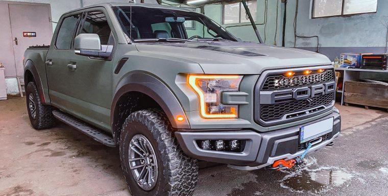 Установка лебедки ComeUp на Ford Raptor